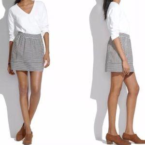 MADEWELL swivel stripe ponte mini skirt S